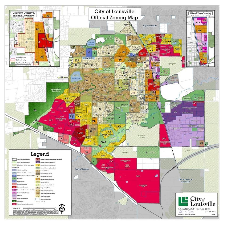City Of Louisville CO  Maps