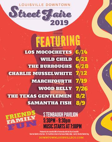Street Faire 2019 Lineup