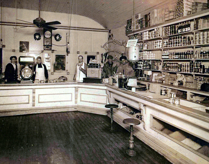 historic photo of McCorkle's store in Louisville