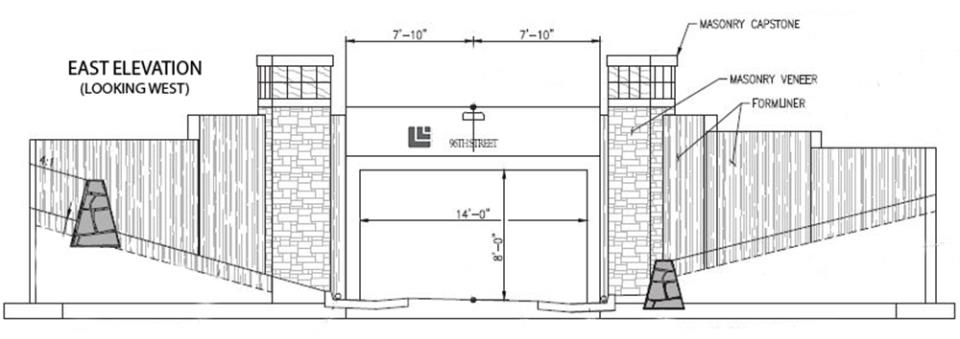 SH42 Underpass elevational drawings