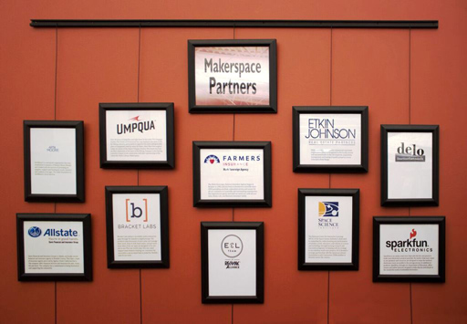 Photo of Makerspace Donor Wall
