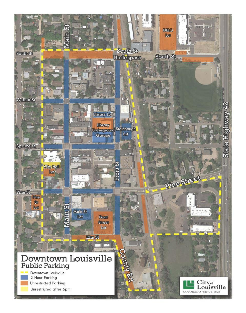2018 Downtown Parking Map