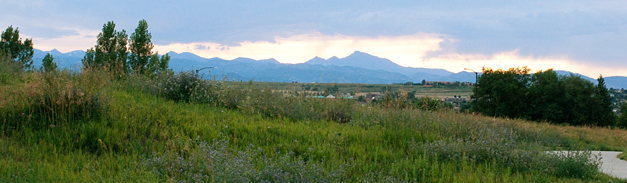 Front Range at dusk from 88th